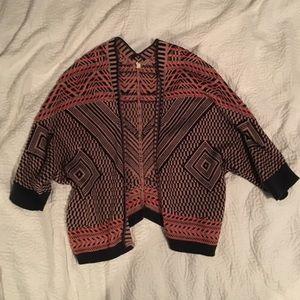 Anthropologie Moth Aztec Knit Shrug or Cardigan
